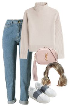 """Sin título #605"" by mary-nava ❤ liked on Polyvore featuring Vanessa Seward, Yves Saint Laurent and Valentino"