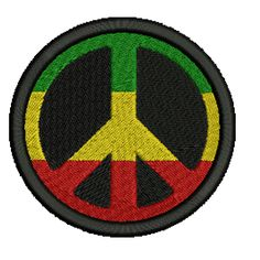 Rasta Peace Sign Embroidered Patch, $5.99. FREE SHIPPING!