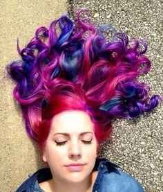 Pink/blue/purple hair