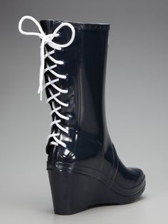 081bff001455 Verbier Wedge Rain Boot by Hunter Boot at Gilt