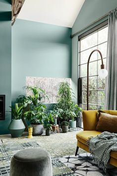 The 2020 Dulux Colour Forecast Is Revealed! (The Design Files) Living Room Green, Green Rooms, My Living Room, Living Room Decor, Colourful Living Room, Green Color Schemes, Green Colour Palette, Living Room Color Schemes, Colour Schemes For Living Room