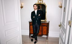 Dinner jacket and Trousers by Acne-Shirt by Valentino-Shoes by Stubbs & Wootton