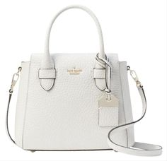 Save on the Kate Spade Carter Aliana White Leather Satchel! This satchel is a top 10 member favorite on Tradesy. Kate Spade Handbags, Kate Spade Purse, Kate Spade Bag Crossbody, Leather Satchel, Leather Handbags, Cute Crossbody Purses, Satchel Purse, White Purses, Luxury Bags