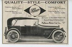 1915 Pullman Motor Car York PA Automobile Magazine Ad Valentine Painting