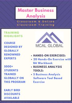 The Master Business Analysis Training Is Our Flagship Business