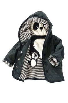 Newborn Clothing - Baby Clothes and Infantwear - Next Panda Jacket Baby Outfits, Newborn Outfits, Kids Outfits, Newborn Clothing, Toddler Boys, Baby Kids, Infant Toddler, Vetement Fashion, Kids Fashion Boy