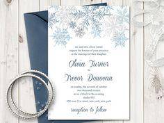 printable snowflake invitations