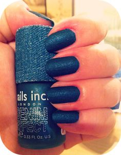 Nails Inc: Denim Effect http://www.theothervw.com/2013/11/nails-inc-denim-effect.html