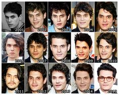 """theonewiththevows: """"The Evolution of: John Mayer """""""