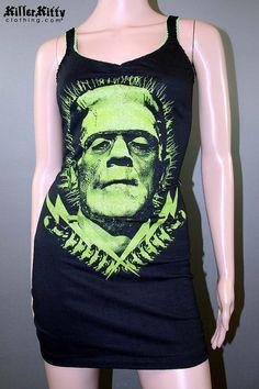 Frankenstein Monster Bolt Tank Top Dress Horror by KillerKitty