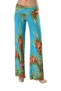 Unfinished the bottom edge, can be cut by customer according to their own length. Wide Leg Palazzo Pants, Harem Pants, Pajama Pants, Gaucho, Printed, Amazon, Casual, Christmas, Blue