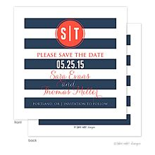 Preppy Navy save the dates | Invitations by Design