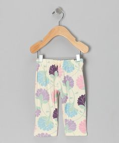 Take a look at this Vanilla Flower Pants by Bubele on #zulily today!