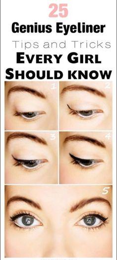 25 Genius Eyeliner Tips and Tricks for Beginners! – C/R