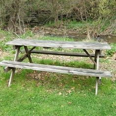 Painted picnic tables last longer because the paint provides a weather barrier.