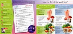"""Mapa do """"Bem Estar WELLNESS""""    peça-o em:   www.orieuro.pt Wellness, Loosing Weight, Day Planners"""
