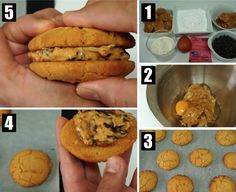 LA RECETTE DES COOKIES FOURRÉS Cookies Fourrés, Sweet Potato, Entrees, Muffin, Potatoes, Dit, Vegetables, Breakfast, Desserts