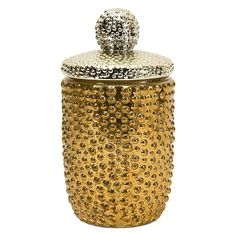 Large Halsey Mercury Glass Acorn - this is gorgeous. Mercury Glass Jar features a gold bumpy exterior in an acorn shape. Fall Looking. Vintage Glam, Mercury Glass, Joss And Main, Acorn, Country Decor, Glass Jars, Kitchen Decor, Household, Sweet Home