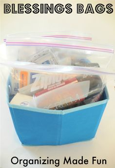 blessing bags for homeless. Love this!!! my church works a lot with the homeless, this is a great idea.