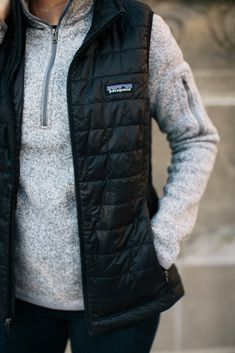 patagonia vest and b
