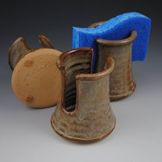 Sponge Holder- Handmade Stoneware in Earthy Brown Glaze  by Neal Pottery