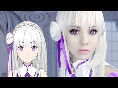 ☆ Emilia Cosplay Makeup Tutorial Re:Zero ゼロから始める異世界生活 ☆ - YouTube