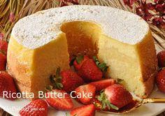 Ricotta Butter Cake Recipe - TheBakingPan.com - How to Make Ricotta Butter Cake