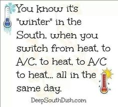 Weather in the south