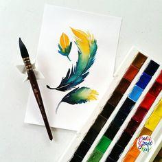 #calligrafikas #calligrafikaswatercolor #grafikasfeathers   Paper: Canson 200gsm Paint: St. Petersburg White Nights watercolors Brush: Princeton Neptune quill no 6