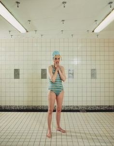 "Rineke Dijkstra, ""Self-Portrait, Marnixbad, Amsterdam, 1991"" | 1991  Photograph | chromogenic print"