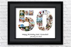 birthday gift for men anniversary gifts for parents birthday gift for women birthday favors birthday ideas wedding 50th Birthday Favors, 50th Birthday Gifts For Men, Happy Birthday Dad, Anniversary Gifts For Parents, Personalized Birthday Gifts, Birthday Ideas, Wedding Anniversary, Birthday Photo Collage, Photo Collage Gift
