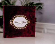 Wedding albums and scrapbooks by DiartHandMadeGifts on Etsy Wedding Photo Books, Wedding Guest Book, Wedding Photos, Burgundy Wedding, Gold Wedding, Photo Guest Book, Wedding Gifts For Couples, Wedding Photo Albums, Album Book