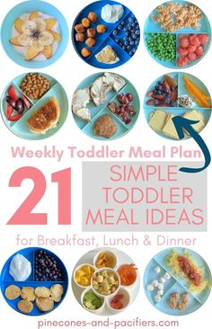 21 simple toddler meal ideas for breakfast, lunch, and dinner based on what my toddlers actually eat! Toddler and mom approved meal ideas that your toddlers will love. Pin now to save for later when you need meal time inspiration! Easy Toddler Meals, Kids Meals, Meal Plan For Toddlers, Baby Schedule, Kid Friendly Meals, Meals For The Week, Baby Feeding, Meal Planning, Lunch