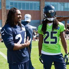 Two of my faves!  First day of training camp 2015 #seahawks
