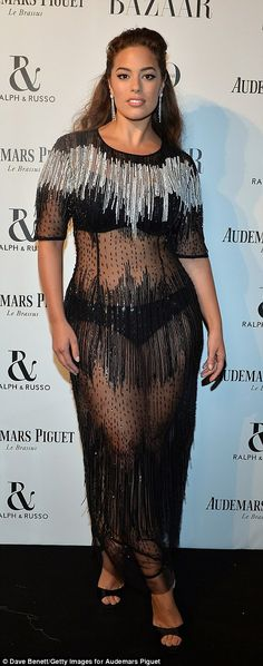 Ashley Graham leads stars at Harper's Bazaar awards | Daily Mail Online