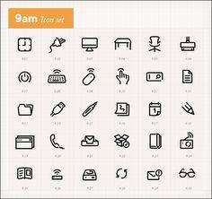 朝起きてから1分ごとの時間をアイコンで表示していくプロジェクト「Icons by hour」 - GIGAZINE