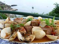 Portuguese Carne Alentejana.....(Pork and Clams)  click on the pic for recipe