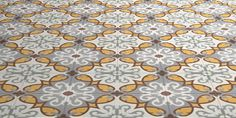This pattern is light and airy and contains warmth in terms of red and yellow.