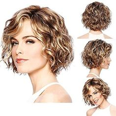95 easy on the go hairstyles for naturally curly hair - Hairstyles Trends Short Permed Hair, Short Curly Haircuts, Curly Hair Cuts, Curly Bob Hairstyles, Short Hairstyles For Women, Short Hair Cuts, Curly Hair Styles, Curly Short, Shot Hair Styles