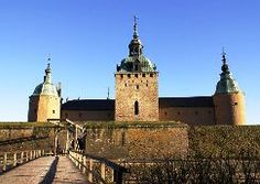 Kalmar: Sweden's Castle by the Sea  This is one of Sweden's best-preserved Renaissance castles, complete with moats, dungeons, and secret passages. Copper-roofed and topped with gilded crowns, the castle perches on an island in Kalmar Sound,