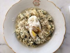 In honor of the excellent tradition of forgoing meat on Mondays, here's a hearty risotto that also happens to be grain-free. Aside from the dash of parmesan cheese and poached egg, it's clean enough to pass as detox-friendly, too.