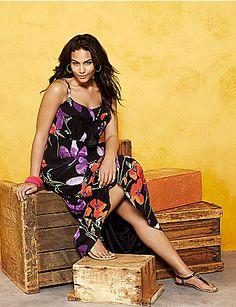 Floral maxi dress by Lane Bryant