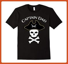 Mens Captain Dad T-Shirt Large Black - Relatives and family shirts (*Partner-Link)