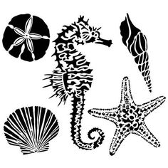 """The Crafter's Workshop Template 6""""x6"""" - Sea Creatures"""