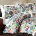 Create an inviting atmosphere in your bedroom with this microfiber duvet cover set. This set is made of machine washable polyester printed with a lovely floral pattern, making this set both easy to ca Bedroom Comforter Sets, Teen Bedding, Quilt Bedding, Bed Quilts, Paisley Quilt, Bed In A Bag, Bed Styling, Quilt Sets, Bedroom Storage