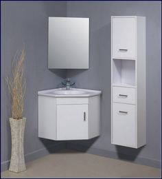 The Adorable And Cute Corner Bathroom Vanity