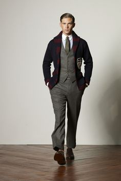 Ralph Lauren Fall 2008 Menswear Collection Slideshow on Style.com  I must find this cardigan.