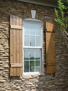 Building shutters that will look similar to this when finished