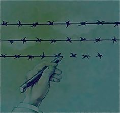 The difference between Freedom & Slavery is one thin line.    woah.    genius.     Message received.