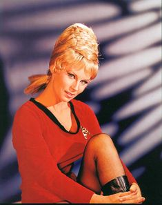 Yeoman Janice Rand (Grace Lee Whitney) from the TV series, STAR TREK (original vintage image color adjusted). Star Trek 1966, Star Trek Tv, Star Wars, Star Trek Ships, Star Trek Characters, Female Characters, Science Fiction, Star Trek Images, Star Trek Original Series